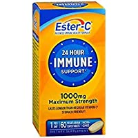 Ester-C 24 Hour Immune Support 1000 mg Maximum Strength Vegetarian Tablets - 60ct...