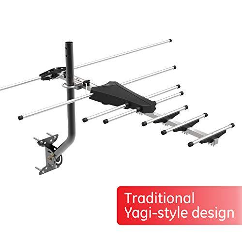 GE Pro Outdoor Yagi TV Antenna, HDTV Antenna, Long Range Antenna, Compact Design, Digital Yagi Antenna, Directional Antenna, 4K 1080P VHF UHF, 33685