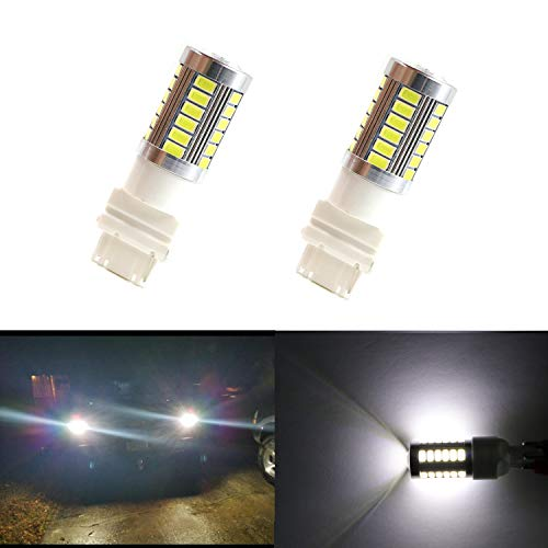 Dantoo 2pcs Extremely Bright 3056 3057 3156 3157 LED Bulbs 33 SMD Chipsets 1300 Lumens with Projector 6000K For Backup Reverse Lights Lamp Replacement Xenon White