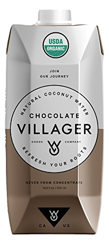 Villager Coconut Water 100% Pure, USDA CERTIFIED ORGANIC, Non-GMO, Gluten Free, Vitamin-Rich Beverage – Refreshing & Smooth (12 Pack) 16.9 oz