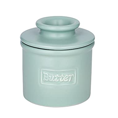 The Original Butter Bell Crock by L. Tremain, Café Collection Aqua Matte