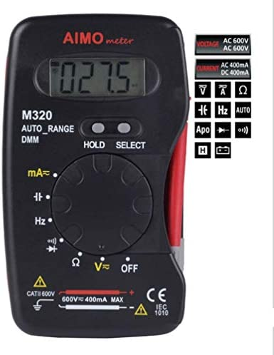 TLF-FF Digital Multimeter 4000 Word Auto Range Notebook Handheld Capacitor Test