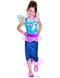 Girl's Winx Club Bloom Mermaid Classic Costume, 4-6X