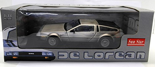 (1981 De Lorean LK, Silver - Sun Star 2701 - 1/18 Scale Diecast Model Toy Car)