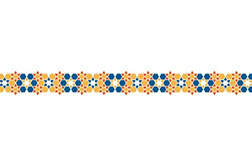 Washi Die-Cut Pavilio Lace Tape, Arabesque Orange Tile