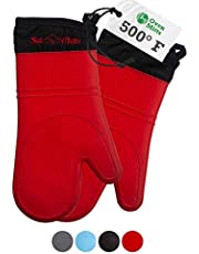 Frux Home and Yard Silicone Kitchen Heat Resistant Oven Mitts