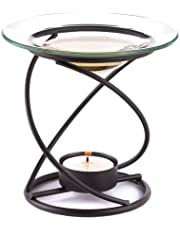Spiral Metal and Glass Fragrant Oil Warmer