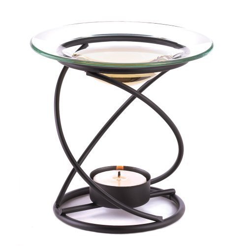 (Spiral Metal and Glass Fragrant Oil Warmer)