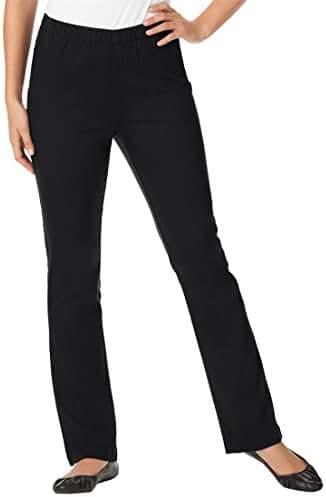 Women's Plus Size Tall Bootcut Pull On Denim