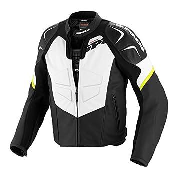 SPIDI TRK EVO Chaqueta para Moto de Cuero, Negro/Amarillo ...