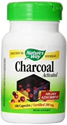Nature\'s Way - Charcoal Activated 280 mg 100 cap (4 Pack)