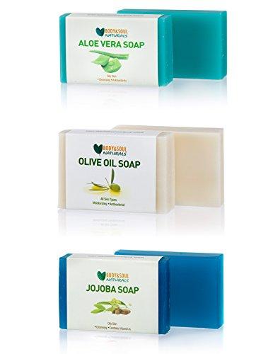 (Moisturizing Soap Bar Set (Aloe Vera/Olive Oil/Jojoba) Natural Glycerin Soap 3.5 Ounces)