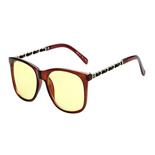 Xinvision Computadora Fatiga Hombre Clásico Gafas azul Claro luz Vintage Filtro de Mujer Anti Moda Proteccion Eyewear Lente Marrón fArxRfn