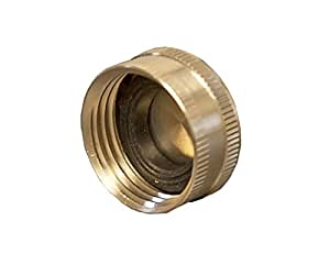 Aqua Plumb Brass Hose End Cap (10 Pack)