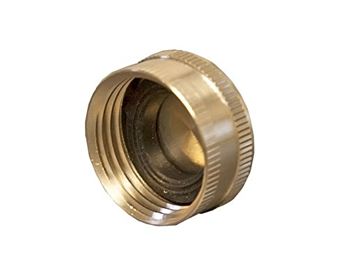 Aqua Plumb Brass Hose End Cap (10 Pack) Brass Hose Cap