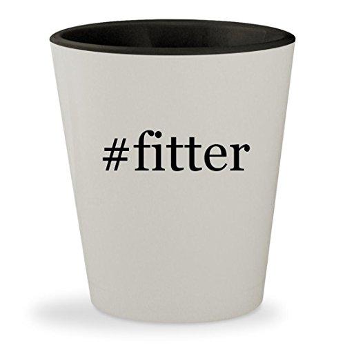 #fitter - Hashtag White Outer & Black Inner Ceramic 1.5oz Shot Glass