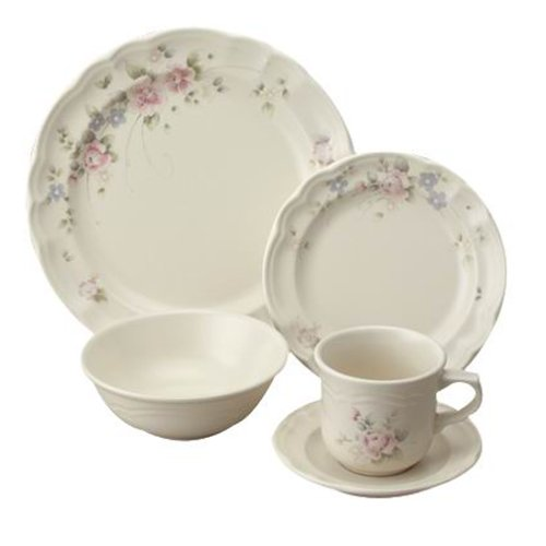 Rose Stoneware (Pfaltzgraff Tea Rose 5-Piece Place Setting, Service for 1)