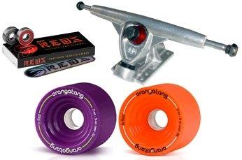 Randal 180mm Longboard Component Pkg. W/Orangatang 4President Wheels & Bones REDS Bearings