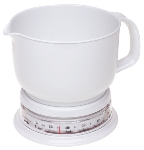 Salter 5-Pound Add and Weigh Kitchen Scale with Jug, White by Salter