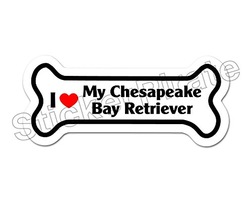 *Dog Bone Magnet* I Love My Chesapeake Bay Retriever Car Truck Locker Magnet