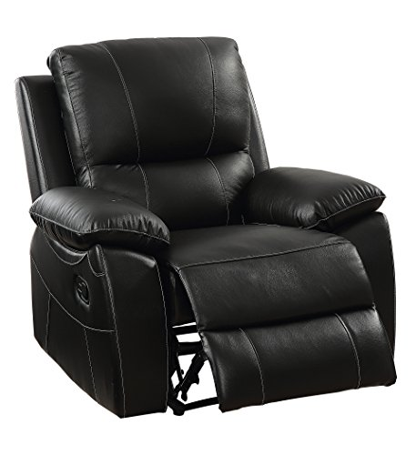 HOMES: Inside + Out IDF-6438-CH Jondo Contemporary Top Grain Leather Recliner Chair
