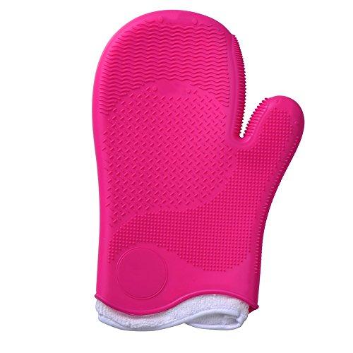 Make Up Pinsel Reinigungshandschuhe MakeUp Schrubber Reinigung Kosmetik Saubere Handschuh-Bürsten Pinselreiniger Handschuh-Tool Silikon