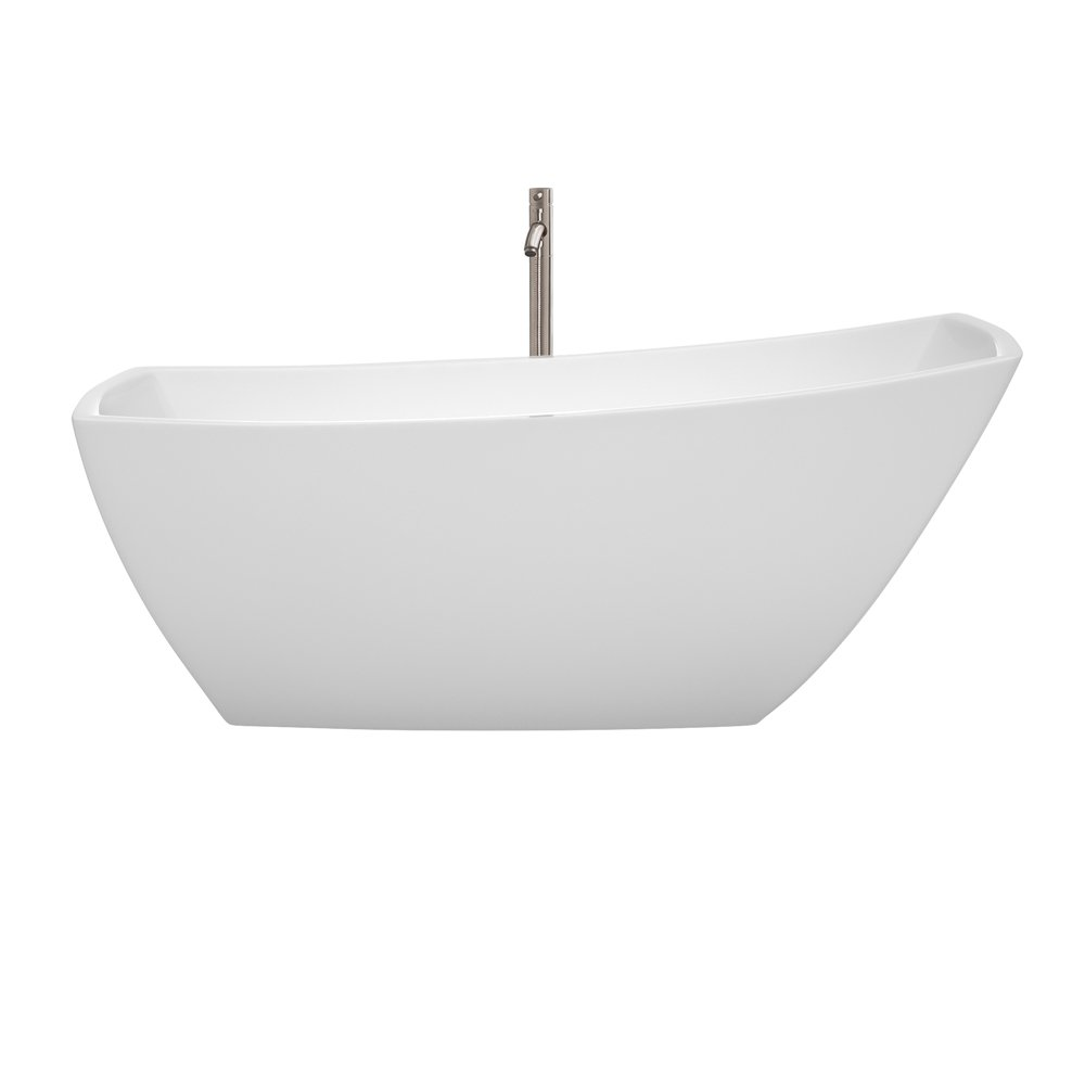 Wyndham Collection WCBTK153367 Freestanding Bathtub, White With ...