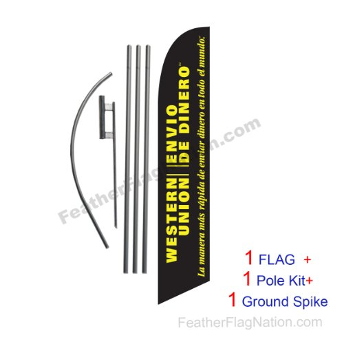 western-union-envio-de-dinero-15ft-feather-banner-swooper-flag-kit-includes-15ft-pole-kit-w-ground-s