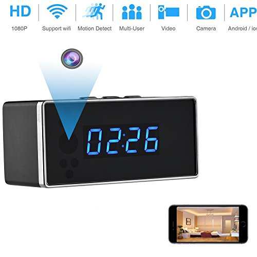 Spy Hidden Camera, ZDMYING HD 1080P WiFi Security Camera Alarm Clock with Night Vision/Motion Detection/Loop Recording Home Nanny Office Realtime Video