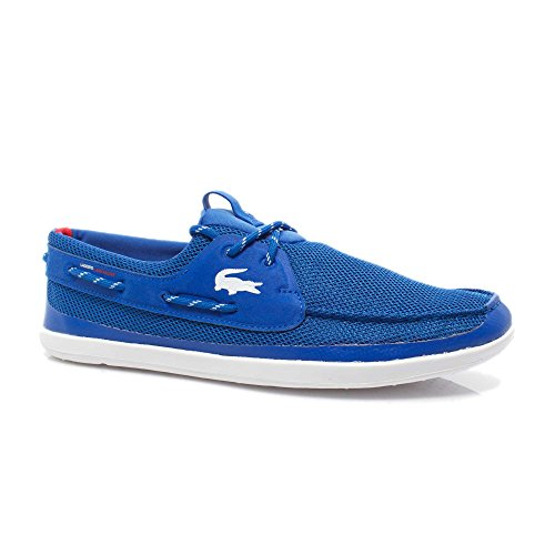 b083d7973bcc Lacoste Men's Light and Sailing T2 Boat Shoe, Blue/White, 9 M US ...