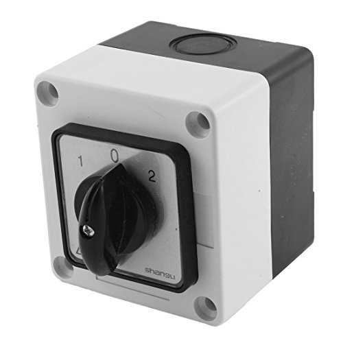 0A 3 Position Rotary Cam Changeover Switch w Control Box ()
