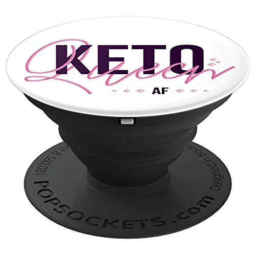 Cute Keto Queen AF Girl, Women on Low-Carb Diet PopSockets Grip and Stand for Phones and Tablets