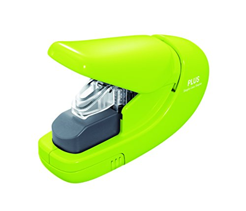 Plus PAPER CLINCH Compact GREEN Heavy Duty, Light, Staple Free Stapler (31251)