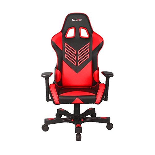 CLUTCH CHAIRZ Crank Series Onylight Edition World s Best Gaming Chair Black Red Racing Bucket Seat Gaming Chairs Computer Chair Esports Chair Executive Office Chair w Lumbar Support Pillows