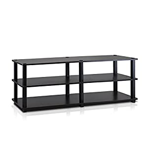 Furinno 14038EX/BK TST No Tools 3-Tier Wide Shoe Storage Rack, Espresso/Black