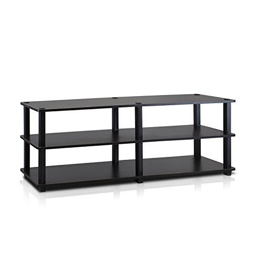Furinno Turn-S-Tube No Tools 3-Tier Entertainment TV Stands, Espresso/Black (Stand Ps3 Tv)