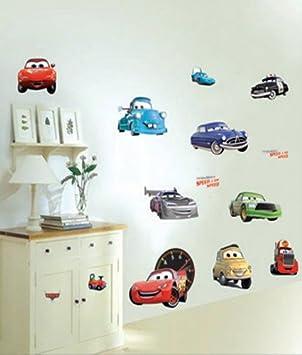amazon.de: wandaufkleber wandtattoo wandsicker deko autos cars ... - Kinderzimmer Deko Autos