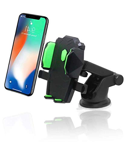 FABTEC Car Dashboard/Windshield Mobile Holder/Mobile Stand Mount for All Mobiles  Upto 6.6 inch
