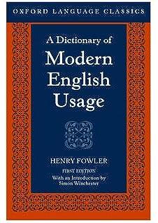 A Dictionary Of Modern English Usage Pdf