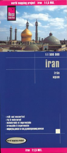 Iran 1:1,500,000 Travel Map, waterproof, GPS-compatible REISE