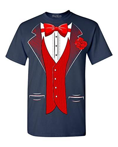 - Shop4Ever Classic Tuxedo T-Shirt Party Costume Shirts XXX-LargeNavy 0