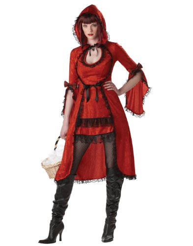 California Costumes Women's Red Riding Hood/Adult Costume,Red/Black, (Strangeling Costumes)