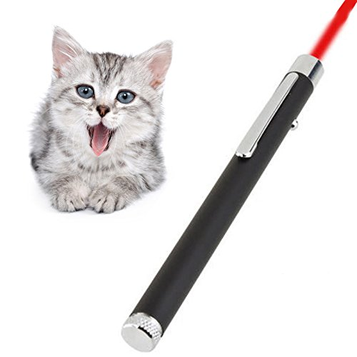 ve Focus LED Light Pointer for Cats Pets Teaser Wand Chaser Toy (Red Laser Pointer)