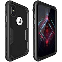 ShellBox Full-Body Military Level Heavy Bumper Protective Case with Built-in Screen Protector for iPhone x 2017 iPhone Xs 2018