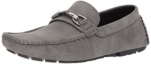 GUESS Men's AXLE Driving Style Loafer, Grey Synthetic, 10.5 Medium US