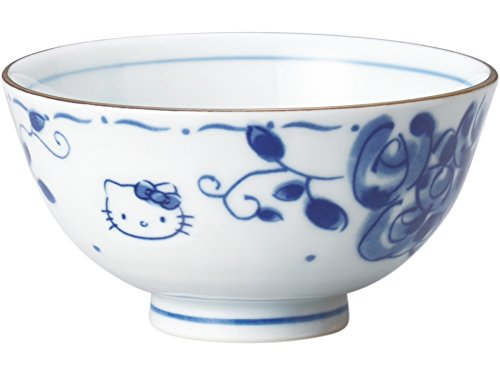 Rose Bowl Rice - Blue Rose Rice Bowl Hello Kitty 307131