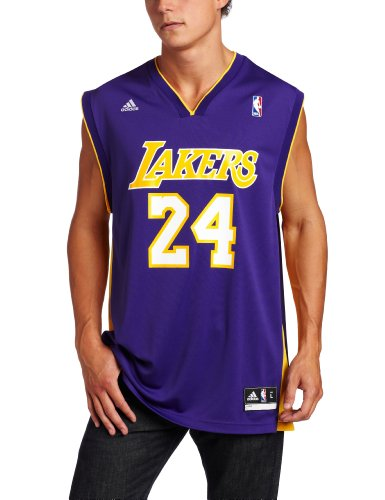 NBA Los Angeles Lakers Purple Replica Jersey Kobe Bryant #24, Large