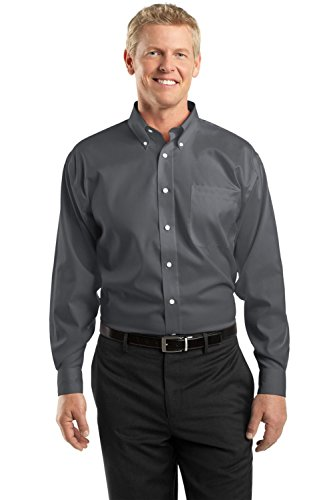 Red House Men's Tall Non Iron Pinpoint Oxford 2XLT Charcoal