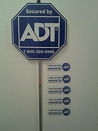New Special August Sign Sale! 1 Adt Home Secure Alarm Yard Signs and 5 Decals Stickers. Help Keep Your Family Protected with These Great Anti Theft Signs! Protection for Any Business!.