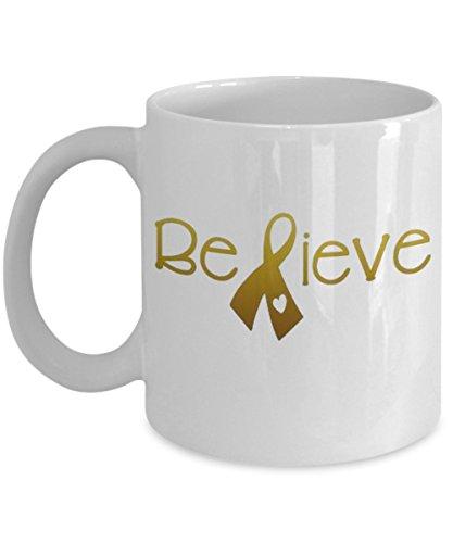 Childhood Cancer Awareness Gold Ribbon Coffee Mug (Ribbon Coffee Mug)